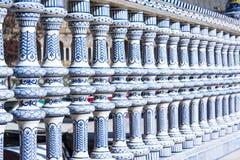 Αρχιτεκτονική λεπτομέρεια - plaza de espana Σεβίλη, Ανδαλουσία, Ισπανία Στοκ φωτογραφία με δικαίωμα ελεύθερης χρήσης