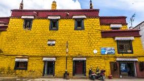 αρχιτεκτονική Θιβέτ Στοκ Φωτογραφία