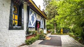 αρχιτεκτονική Θιβέτ Στοκ φωτογραφία με δικαίωμα ελεύθερης χρήσης