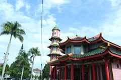 Αρχιτεκτονική Κίνα μουσουλμανικών τεμενών στην Ινδονησία στοκ φωτογραφίες