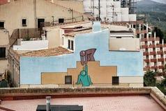 Αρχιτεκτονική και γκράφιτι Tarragona Στοκ φωτογραφία με δικαίωμα ελεύθερης χρήσης