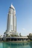 Αρχιτεκτονική καμπής του Ντουμπάι στη λίμνη Burj στοκ φωτογραφίες