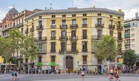 Αρχιτεκτονική κοντά Arc de Triomf στη Βαρκελώνη Στοκ φωτογραφία με δικαίωμα ελεύθερης χρήσης