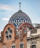 Αρχιτεκτονική κοντά Arc de Triomf στη Βαρκελώνη Στοκ Φωτογραφία
