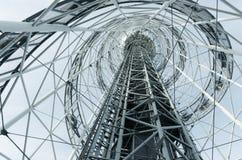 Αρχιτεκτονική κωνική μορφή κατασκευής μετάλλων Στοκ εικόνες με δικαίωμα ελεύθερης χρήσης