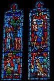 Αρχιτεκτονική λεπτομέρεια. Λεκιασμένο παράθυρο γυαλιού. στοκ φωτογραφία με δικαίωμα ελεύθερης χρήσης