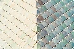 Αρχιτεκτονική λεπτομέρεια πλέγματος με τη σύσταση κλιμάκων ψαριών Στοκ Φωτογραφίες