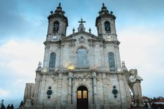 Αρχιτεκτονική λεπτομέρεια της βασιλικής της κυρίας Sameiro μας κοντά στη Braga στοκ φωτογραφίες