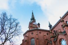 Αρχιτεκτονική λεπτομέρεια της εκκλησίας Kirche Paul Ευαγγελιστών στοκ φωτογραφία με δικαίωμα ελεύθερης χρήσης