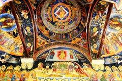 Αρχιτεκτονική λεπτομέρεια του μοναστηριού Cozia Στοκ Φωτογραφία