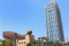 Αρχιτεκτονική λεπτομέρεια του πύργου τεχνών ξενοδοχείων στοκ εικόνα
