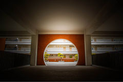 Αρχιτεκτονική πανεπιστημιουπόλεων σε Shenzhen πανεπιστημιακή Κίνα Στοκ εικόνα με δικαίωμα ελεύθερης χρήσης