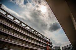 Αρχιτεκτονική πανεπιστημιουπόλεων σε Shenzhen πανεπιστημιακή Κίνα Στοκ Φωτογραφίες