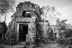 Αρχιτεκτονική παλαιού βουδιστικού στο πάρκο Angkor Archeological Μνημείο της Καμπότζης - Siem συγκεντρώνει Δημοφιλές τοπίο κινημα Στοκ Εικόνες