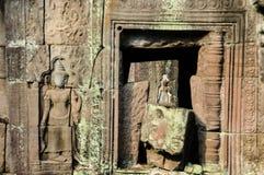 Αρχιτεκτονική παλαιού βουδιστικού στο πάρκο Angkor Archeological Μνημείο της Καμπότζης - Siem συγκεντρώνει Δημοφιλές τοπίο κινημα Στοκ φωτογραφία με δικαίωμα ελεύθερης χρήσης
