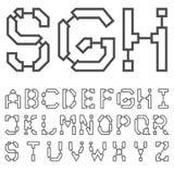 Αρχιτεκτονική πηγή 03 σχεδιαγραμμάτων Διανυσματικό EPS8 Στοκ Φωτογραφίες