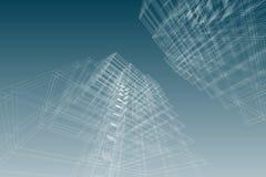 Αρχιτεκτονική που σύρει την τρισδιάστατη απεικόνιση Στοκ Εικόνα