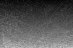 Αρχιτεκτονική που σύρει τη σύγχρονη τρισδιάστατη απεικόνιση Στοκ φωτογραφία με δικαίωμα ελεύθερης χρήσης