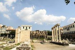 Αρχιτεκτονική, ρωμαϊκή ιστορία στην Αθήνα Στοκ Φωτογραφίες