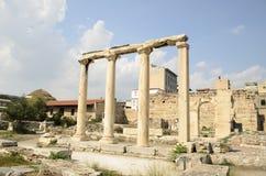 Αρχιτεκτονική, ρωμαϊκή ιστορία στην Αθήνα Στοκ Εικόνες
