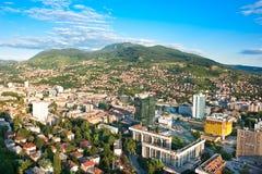 Αρχιτεκτονική Σαράγεβο Arial Στοκ Εικόνες