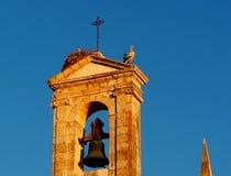 Αρχιτεκτονική σε Faro Πορτογαλία με τις φωλιές πελαργών στοκ εικόνες