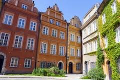 Αρχιτεκτονική στην παλαιά πόλη της Βαρσοβίας Στοκ Εικόνα