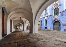 Αρχιτεκτονική στην παλαιά πόλη bielsko-Biala Στοκ Εικόνες