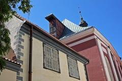Αρχιτεκτονική στην παλαιά Ρήγα, Λετονία Στοκ Εικόνα