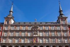 Αρχιτεκτονική στο δήμαρχο Plaza στη Μαδρίτη, Ισπανία/Casa de Λα Pana Στοκ Φωτογραφίες