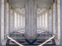 αρχιτεκτονική συμμετρι&kap Στοκ εικόνες με δικαίωμα ελεύθερης χρήσης