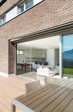 Αρχιτεκτονική, σύγχρονο σπίτι, υπαίθριο Στοκ Εικόνα