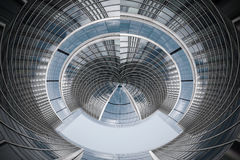 Αρχιτεκτονική σύνθεση φιαγμένη από σωματειακά κτήρια αφηρημένη επιχείρηση ανασκόπησης Στοκ εικόνες με δικαίωμα ελεύθερης χρήσης