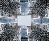 Αρχιτεκτονική σύνθεση φιαγμένη από σωματειακά κτήρια αφηρημένη επιχείρηση ανασκόπησης Στοκ εικόνα με δικαίωμα ελεύθερης χρήσης