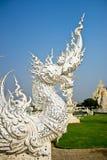 αρχιτεκτονική τέχνης του ναού Wat rong khun στην Ταϊλάνδη, Ασία Στοκ φωτογραφία με δικαίωμα ελεύθερης χρήσης