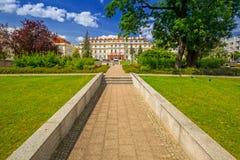 Αρχιτεκτονική της αίθουσας πόλεων Pruszcz Gdanski Στοκ εικόνες με δικαίωμα ελεύθερης χρήσης