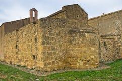 Αρχιτεκτονική της εκκλησίας Αγίου Efisio, νησί της Σαρδηνίας, Ιταλία Στοκ εικόνα με δικαίωμα ελεύθερης χρήσης