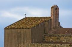 Αρχιτεκτονική της εκκλησίας Αγίου Efisio, νησί της Σαρδηνίας, Ιταλία Στοκ φωτογραφία με δικαίωμα ελεύθερης χρήσης