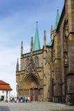 Αρχιτεκτονική της Ερφούρτης, Γερμανία στοκ εικόνα