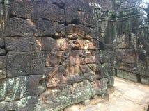 Αρχιτεκτονική της Καμπότζης Bas-ανακούφιση Η χάραξη τοίχων σε Angkor Wat σύνθετο Siem συγκεντρώνει Στοκ Εικόνες