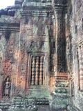 Αρχιτεκτονική της Καμπότζης Bas-ανακούφιση Η χάραξη τοίχων σε Angkor Wat σύνθετο Siem συγκεντρώνει Στοκ Φωτογραφίες
