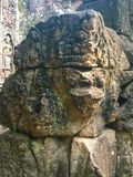 Αρχιτεκτονική της Καμπότζης Bas-ανακούφιση Η χάραξη τοίχων σε Angkor Wat σύνθετο Siem συγκεντρώνει Στοκ φωτογραφία με δικαίωμα ελεύθερης χρήσης