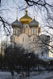 Αρχιτεκτονική της μονής Novodevichy στη Μόσχα Εκκλησία εικονιδίων του Σμολένσκ Στοκ Φωτογραφία