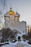 Αρχιτεκτονική της μονής Novodevichy στη Μόσχα Εκκλησία εικονιδίων του Σμολένσκ Στοκ εικόνες με δικαίωμα ελεύθερης χρήσης
