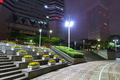 Αρχιτεκτονική της νύχτας Yokohama cityat Στοκ φωτογραφία με δικαίωμα ελεύθερης χρήσης