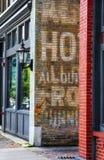 Αρχιτεκτονική της παλαιάς πόλης Wichita, Κάνσας Λεπτομέρειες των αναζωογονημένων κτηρίων Στοκ Εικόνα