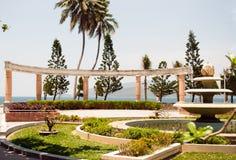 Αρχιτεκτονική του κεντρικού πάρκου Nha Trang Βιετνάμ Στοκ εικόνα με δικαίωμα ελεύθερης χρήσης