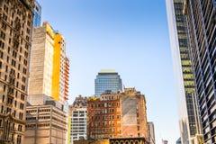 Αρχιτεκτονική του Μανχάταν, Νέα Υόρκη, ΗΠΑ Στοκ εικόνα με δικαίωμα ελεύθερης χρήσης