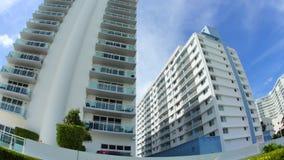 Αρχιτεκτονική του Μαϊάμι Beachfront απόθεμα βίντεο