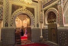 Αρχιτεκτονική του μουσουλμανικού τεμένους σε Medina Fes, Μαρόκο Στοκ Εικόνα